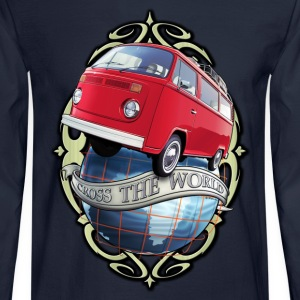 T2 Bus - Cross the World Long Sleeve Shirts - Men's Long Sleeve T-Shirt