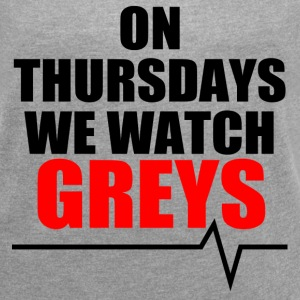 On Thursdays We Watch Greys - Women´s Roll Cuff T-Shirt