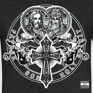 Sinner with a Savior T - Unisex Tri-Blend T-Shirt by American Apparel