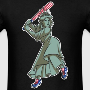 Lady Liberty Baseball - Men's T-Shirt