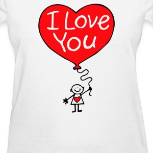 balloon I LOVE YOU - Women's T-Shirt