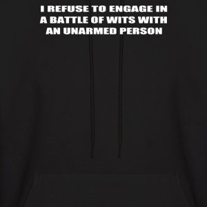 Engage in A BATTLE OF WITS - Men's Hoodie
