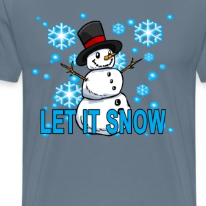 let_it_snow_snowman_hoodie_ - Men's Premium T-Shirt