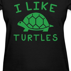 I Like Turtles - Women's T-Shirt