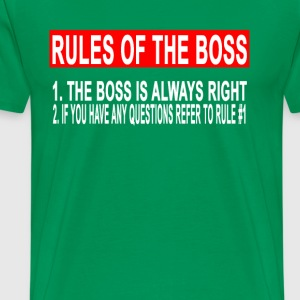 rules_of_the_boss_ - Men's Premium T-Shirt