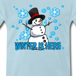 cute_winter_is_here_hoodie - Men's Premium T-Shirt