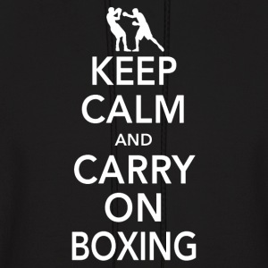 Keep Calm & Carry On Boxing - Men's Hoodie