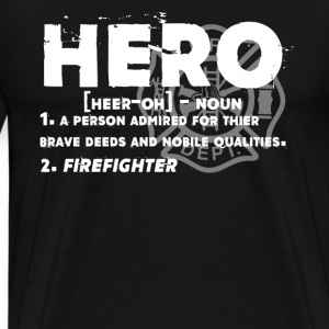 Firefighter Hero Shirt - Men's Premium T-Shirt