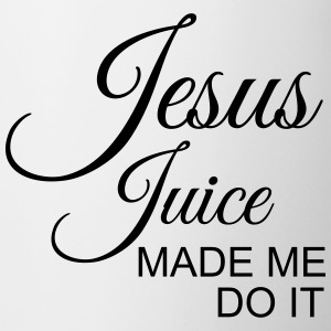Jesus juice made me do it Mugs & Drinkware - Coffee/Tea Mug