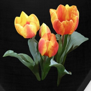 Three Orange and Yellow Tulips Caps - Bandana