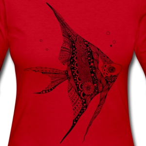 Angel Fish South South Tees Long Sleeve Shirts - Women's Long Sleeve Jersey T-Shirt