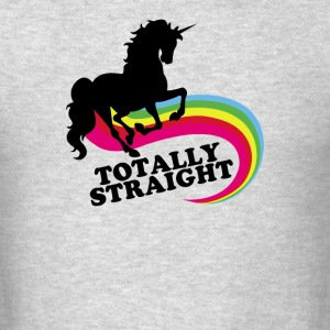 totally straight - Men's T-Shirt