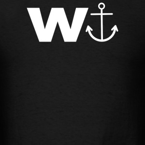 W  With Image Of An Anchor Great Gift Brother - Men's T-Shirt