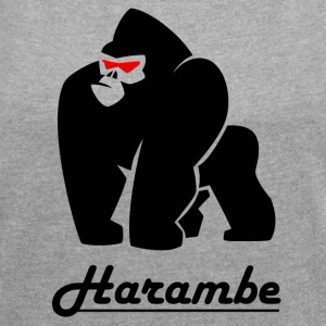 harambe - Women´s Rolled Sleeve Boxy T-Shirt