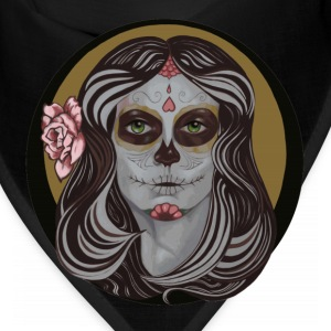 Sugar Skull in Pinstripes - Bandana