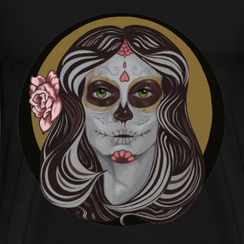 Sugar Skull in Pinstripes