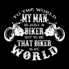 Biker - To me that biker is my world t-shirt - Women's Premium T-Shirt