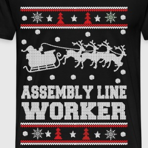 Assembly line worker - Christmas worker sweater - Men's Premium T-Shirt