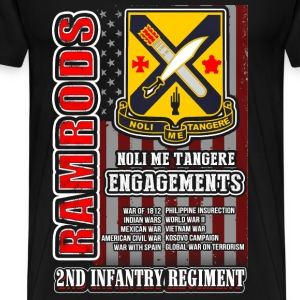 2nd Infantry regiment t-shirt for American - Men's Premium T-Shirt