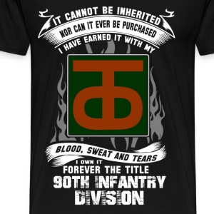 90th Infantry division - I've earned it with blood - Men's Premium T-Shirt