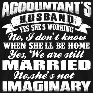 Accountant - My wife is an accountant t-shirt - Men's Premium T-Shirt