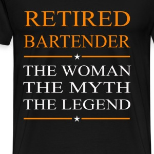 Bartender - The woman the myth the legend tee - Men's Premium T-Shirt