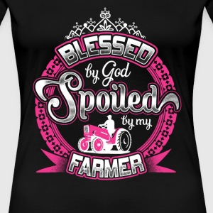 Farmer - Blessed by god spoiled by my farmer tee - Women's Premium T-Shirt