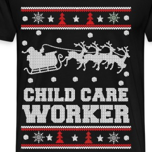 Child care worker - Awesome christmas sweater tee - Men's Premium T-Shirt