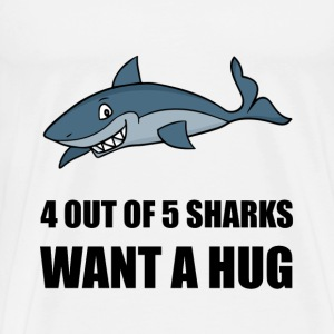 Sharks Wants Hug - Men's Premium T-Shirt