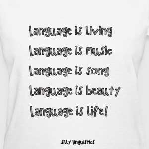 language poem T-Shirts - Women's T-Shirt
