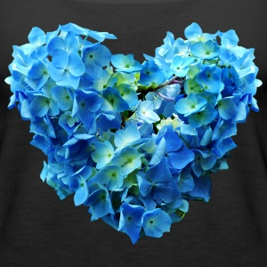 Blue Hydrangea Heart Tanks - Women's Premium Tank Top