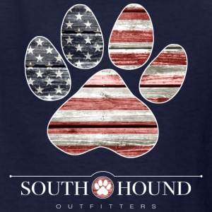 Patriotic Dog Paw - Kids' T-Shirt