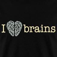 Design ~ YellowIbis.com 'Medical One Liners' Men's / Unisex Standard T-Shirt: I love brains (Color Choice)