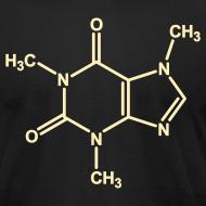Design ~ YellowIbis.com 'Chemical Structures' Men's / Unisex American Apparel T: Caffeine (Color choice)