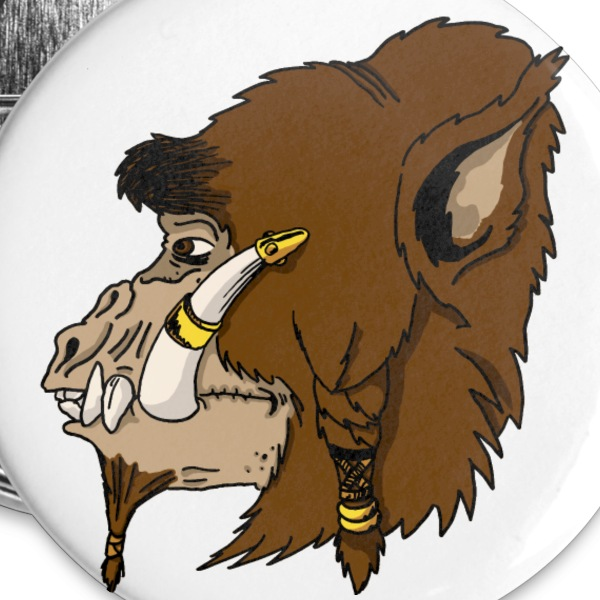 Fantasy Chieftain Button - Small Buttons