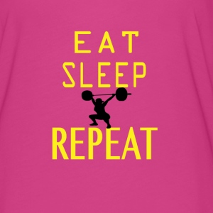Eat, Sleep, squat repeat. - Women's Flowy T-Shirt