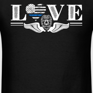 Thin Blue Line Love Shirt - Men's T-Shirt