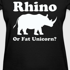 Rhino or Fat Unicorn - Women's T-Shirt
