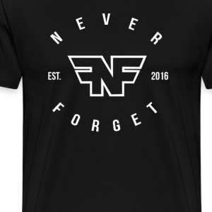 Never Forget Circle Text - Men's Premium T-Shirt