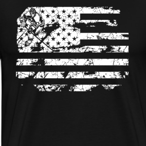 Field Hockey Flag Shirt - Men's Premium T-Shirt