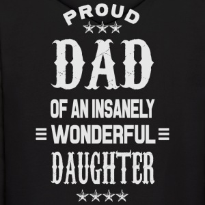 Proud Dad daughter grey Hoodies - Men's Hoodie