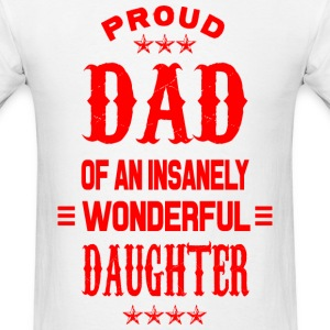 Proud Dad daughter red T-Shirts - Men's T-Shirt