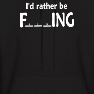 I'd Rather Be outdoor Fishing - Men's Hoodie