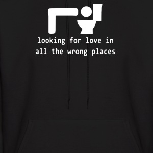 Looking for Love Wrong Places - Men's Hoodie