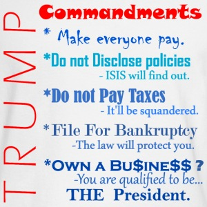 Trump Commandments Long Sleeve Shirts - Men's Long Sleeve T-Shirt