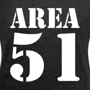 AREA 51 UFO ALIEN SECRET PLACE UNIVERSE T-Shirts - Women´s Rolled Sleeve Boxy T-Shirt