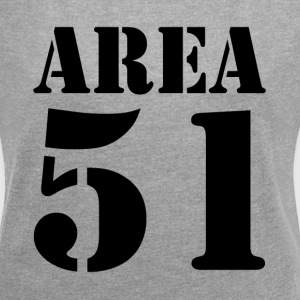 AREA 51 UFO ALIEN SECRET PLACE UNIVERSE T-Shirts - Women´s Roll Cuff T-Shirt