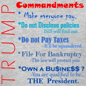 Trump Commandments T-Shirts - Women's T-Shirt