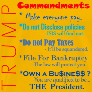 Trump Commandments T-Shirts - Men's Premium T-Shirt