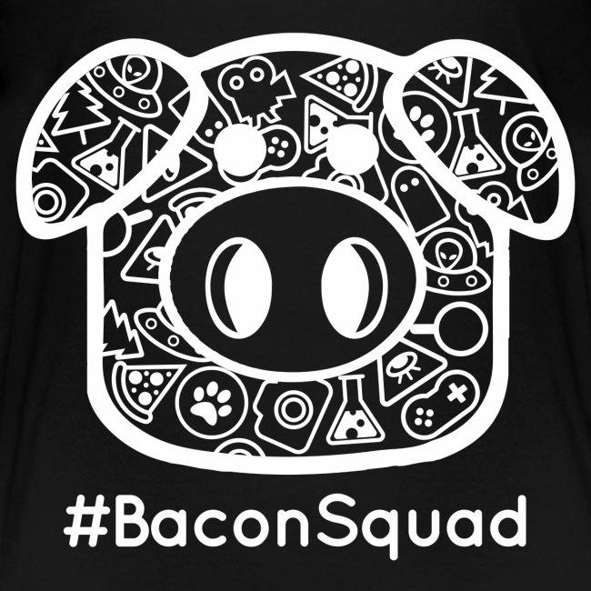 Children's White Print Bacon Squad Tee